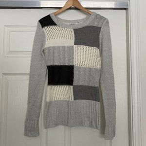 Ci Sono Cable Knit Light Scoop Neck Sweater Med